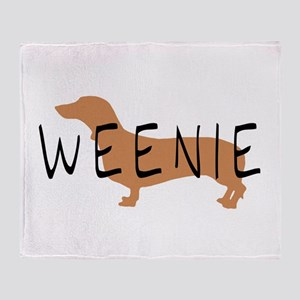 weenie dog dachshund Throw Blanket